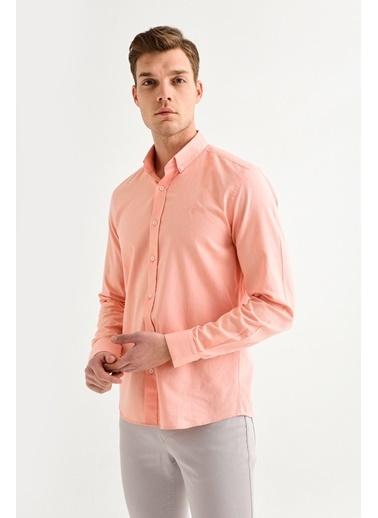 Avva Erkek  Oxford Klasik Yaka Gömlek A01S2272 Oranj